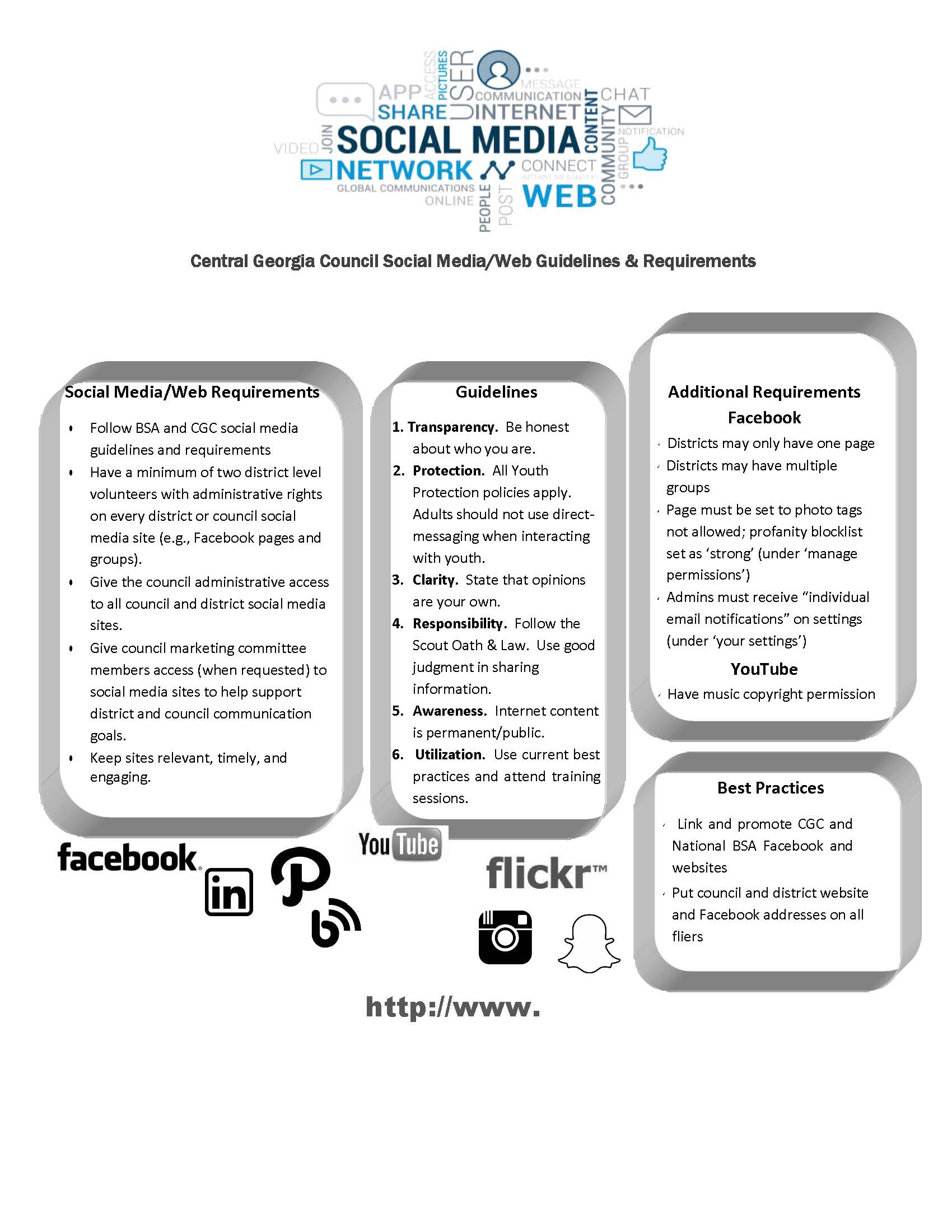 CGC Social Media/Web Requirements & Guidelines