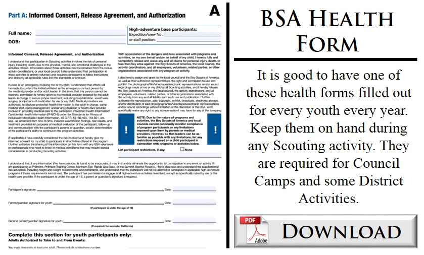 Bsa Health Form Bsa Health Form Beautiful Parent Release Form Ideas