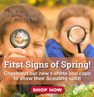 New Spring Apparel is available at the Scout Shop