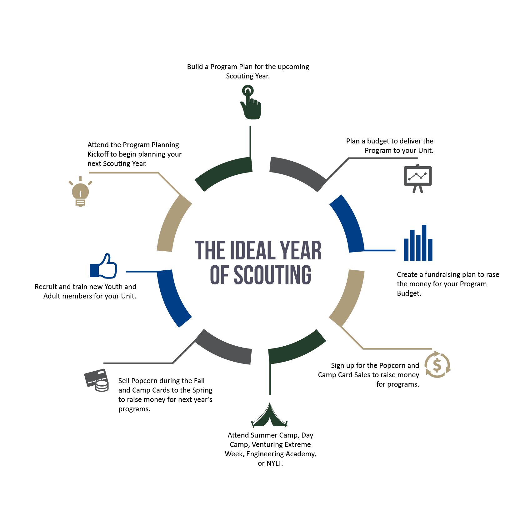 Ideal Year of Scouting Infographic