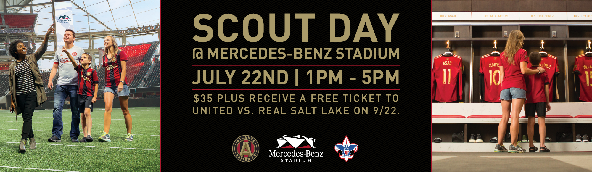 Scout Day at Mercedes Benz Stadium with Atlanta United