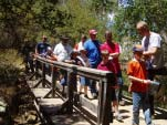 Cub Scouts Hiking on Bridge
