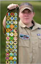 132 Merit Badges earned
