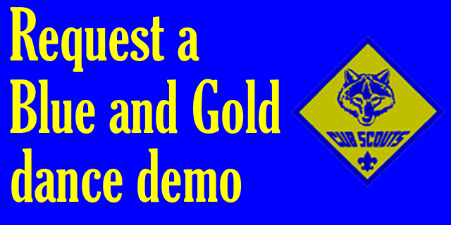 blue and gold dance demo