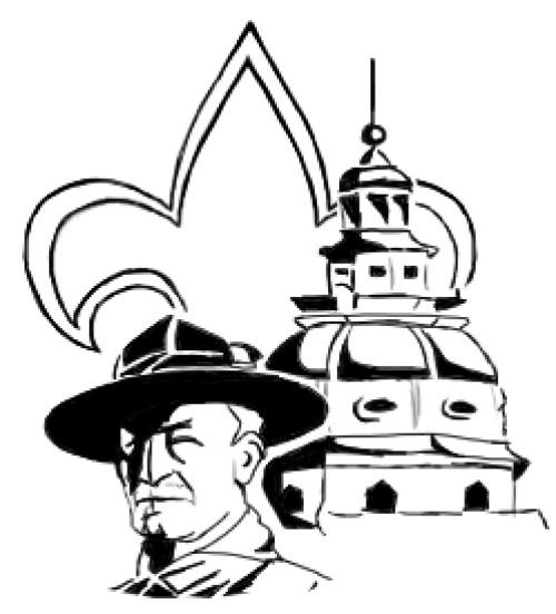 This is The Capitol District default image, Lord Baden Powell, the Fleur De Lis, and the Annapolis Capitol Dome.