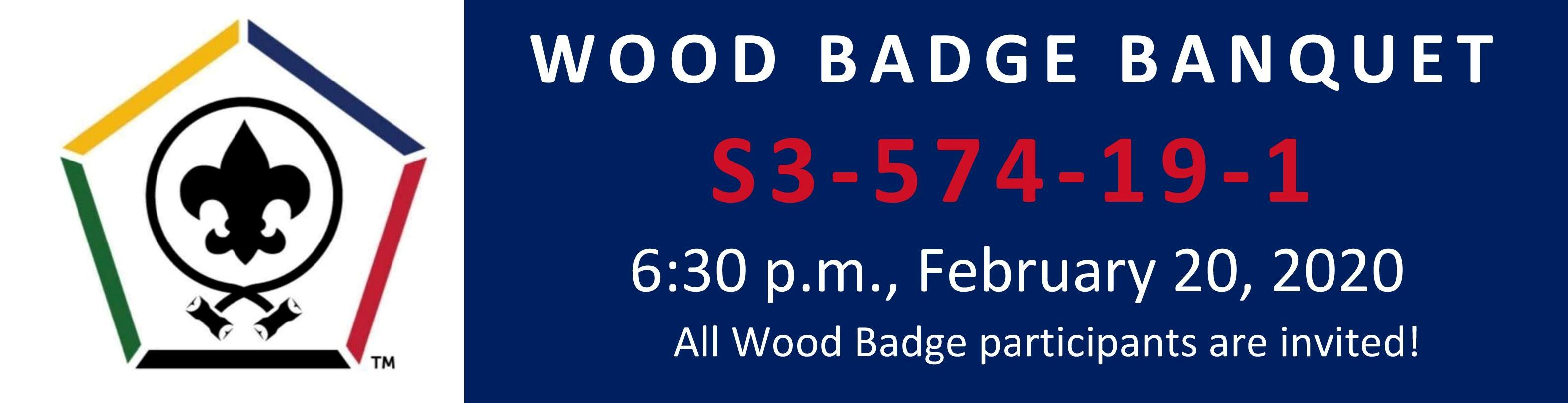 Wood Badge Banquet