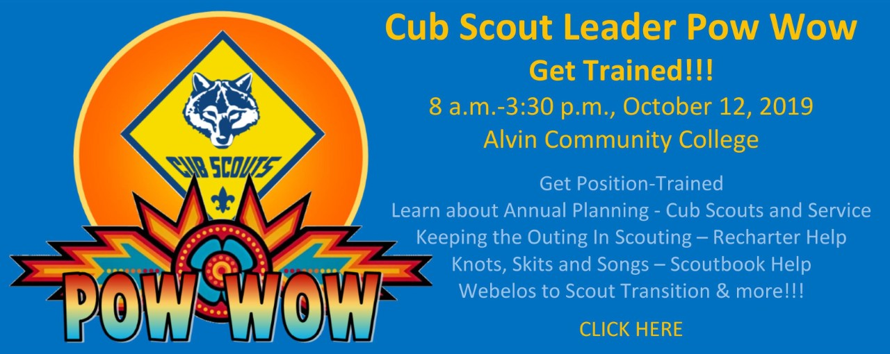 Cub Scout Leader Pow Wow