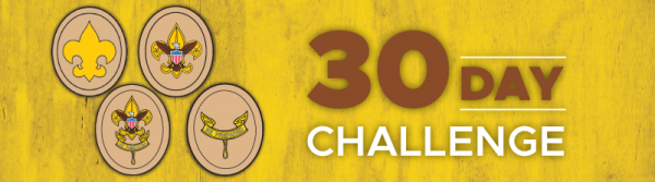 Scouts BSA 30-day challenges