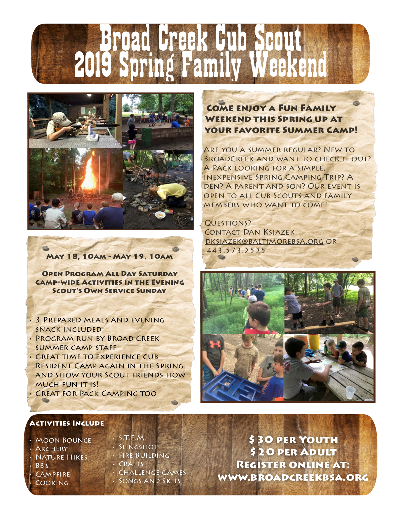 2019 Cub Scout Spring Family Weekend