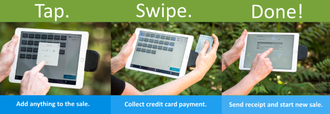 Tap. Swipe. Done. Collect donations, registrations and other payments with ease on Doubleknot Sales Station.