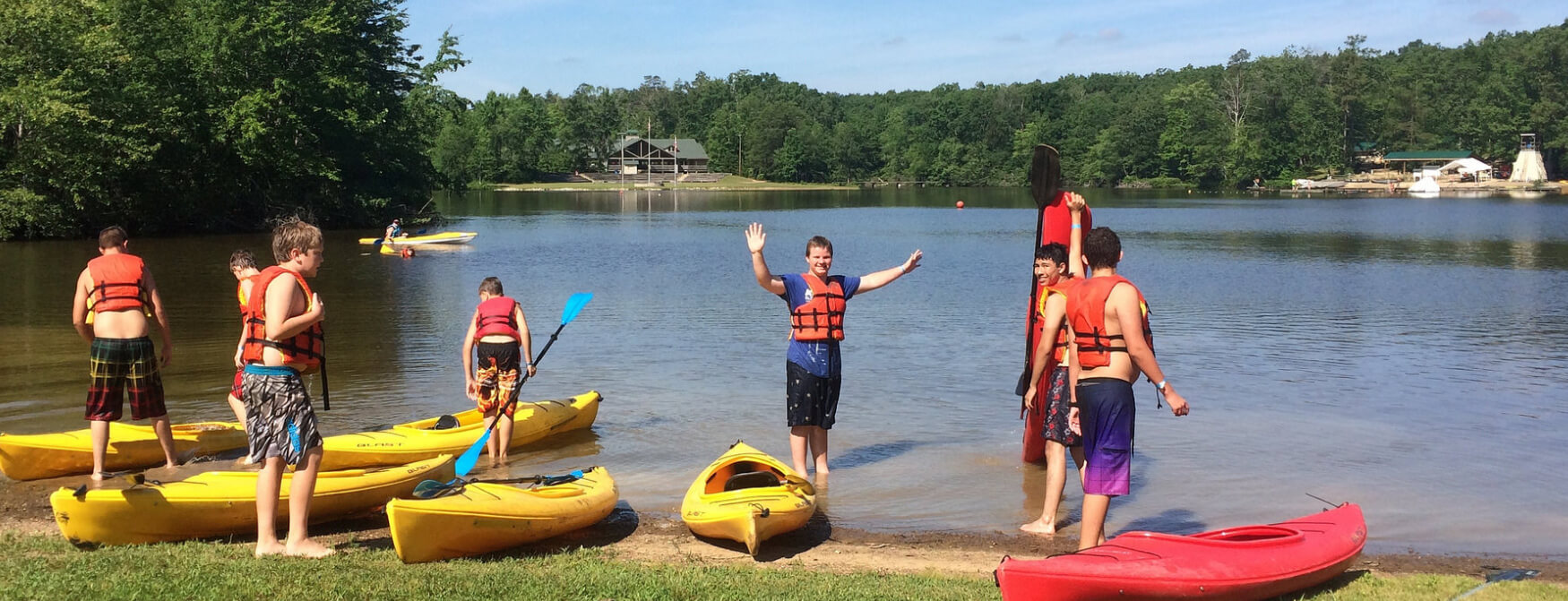 Scouts kayaking at Camp McKee
