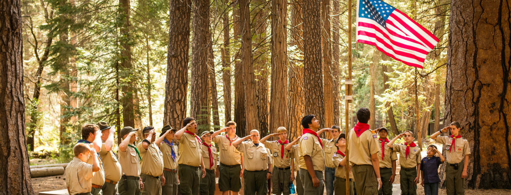 Scouts saluting the flag