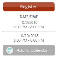 Custom event frequency displayed on event details page