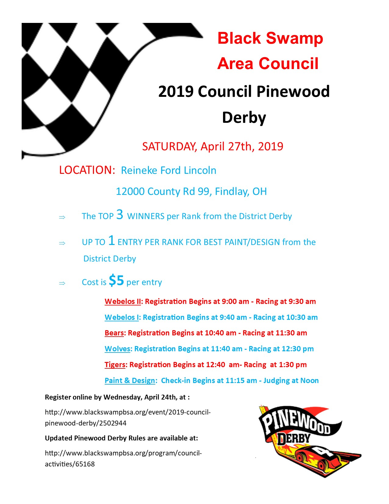 picture about Pinewood Derby Awards Printable known as 2019 Council Pinewood Derby