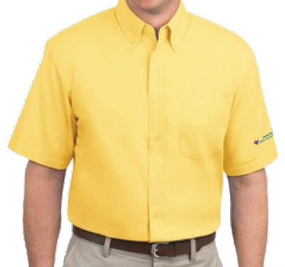 DWC Button-Down Short Sleeve Shirt (Yellow)