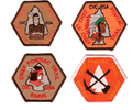Little Brave Center Patches