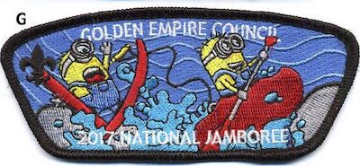 Whitewater Rafting Jamboree Shoulder Patch