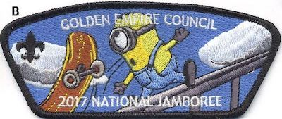 Skateboard Jamboree Shoulder Patch