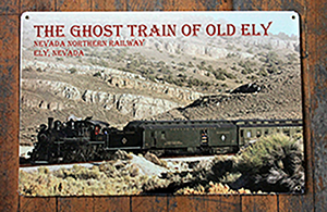Ghost Train Tin Sign