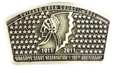 Owasippe 100th Anniversary Belt Buckle