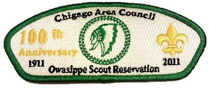 Owasippe Scout Reservation 100th Anniversary Shoulder Strip (Collector's Edition)
